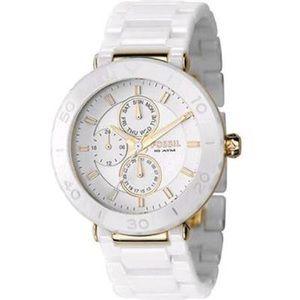 White Ceramic Fossil Watch